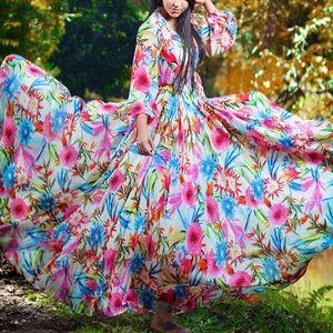 Dresses & Skirts - 💐Spring Symphony Maxi Floral Event Dress, S-XXL
